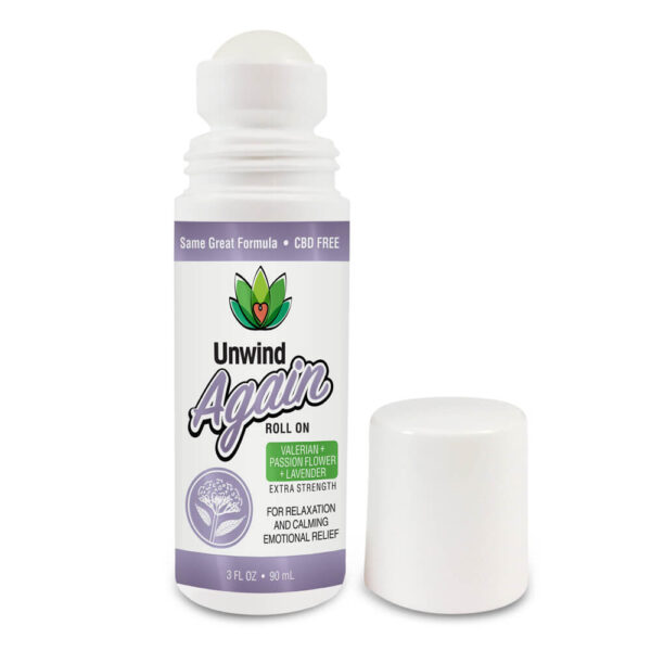 Unwind Again CBD Free Roll On For Relaxation and Calming Emotional Relief